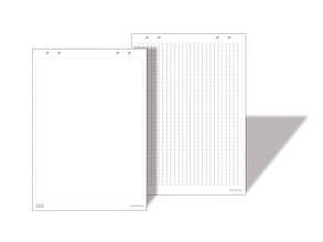 Бумага для флипчарта ТМ 2х3 83х58 см 10 листов  нелинованная Арт. B02