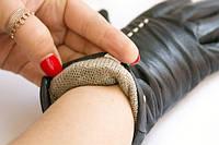Сенсорные кожаные перчатки