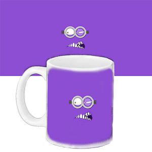 Кружка подарок с принтом Фиолетовый миньон