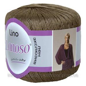 Пряжа Lanoso Lino коричневый