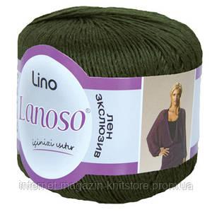 Пряжа Lanoso Lino хаки