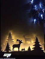 Новогодний декор: снежинки, елки, звезды, ангелочки, надписи. Оформление витрин магазинов, кафе, баров, офисов