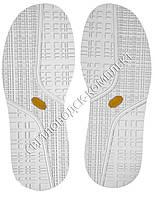 Резиновая подошва/след для обуви art.115 BISSELL, т.4,25 мм, цв. белый