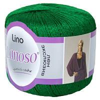 Пряжа Lanoso Lino зеленый
