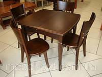 Раскладной Деревянный обеденный стол А13 орех