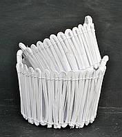 Набор из 2х красивых белых круглых корзин 044