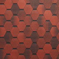 Битумная черепица Тегола Супер Мозаик / Tegola Super Mosaic красный гранит