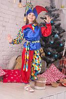 Новогодний костюм Скомороха. Новогодний костюм петрушка. Карнавальный костюм. Костюм для девочки и мальчика.
