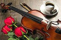 Алмазная вышивка на подрамнике Музыка, цветы и кофе для тебя 50 х 40 см (арт. TN653) , фото 1