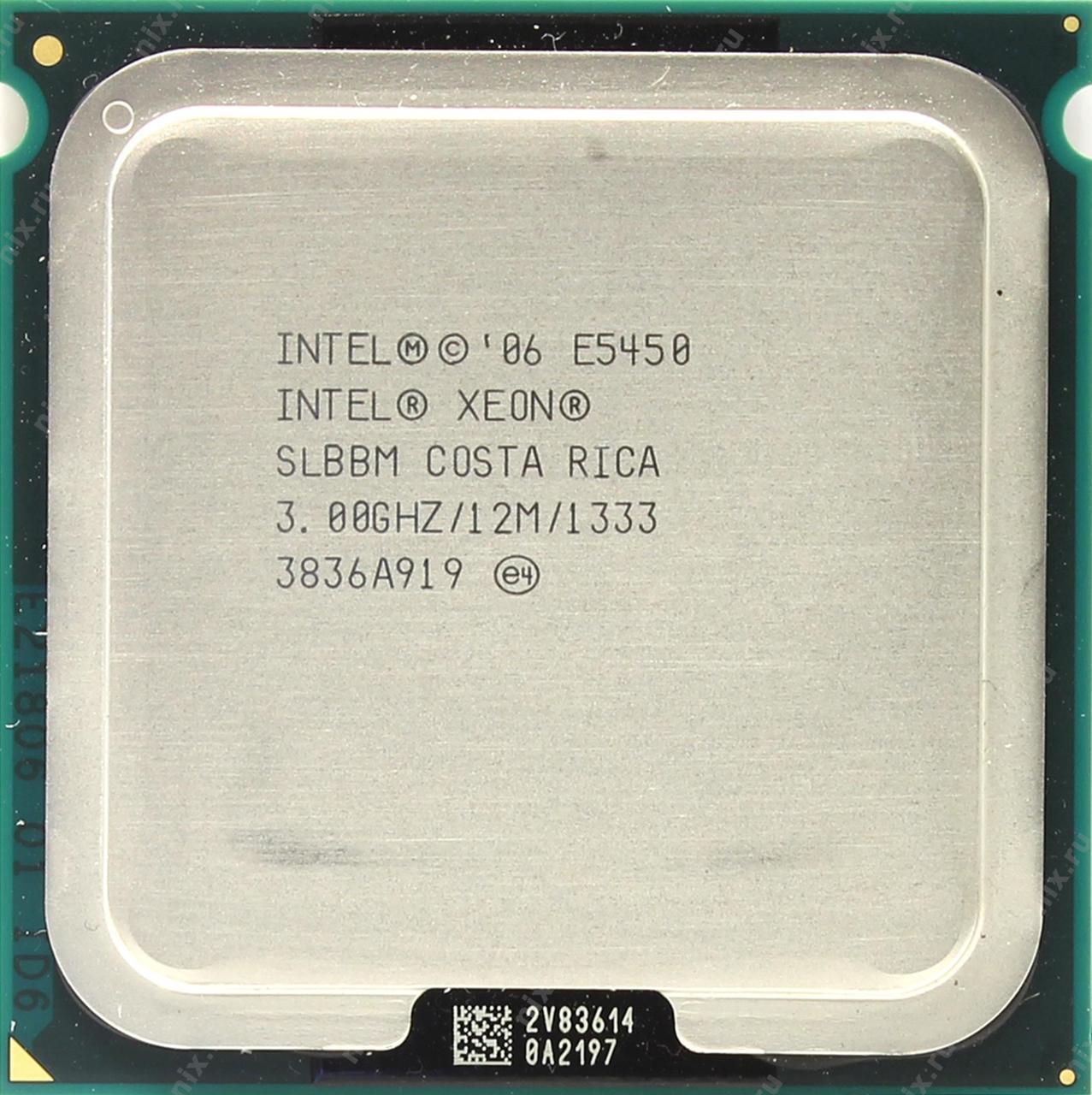 Процессор Intel Xeon E5450 (12 МБ кэш-памяти, тактовая частота 3,00 ГГц,  частота системной шины 1333 МГц): продажа, цена в Александрии  процессоры  от