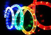 Дюралайт Светодиодный Круглый LED 10 м ЦветаСиний Белый Мульти, фото 1