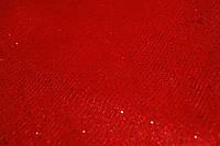 Ткань фатин блестящий.Красный.