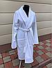 Махровый халат белого цвета (XXL)