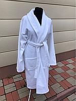 Махровый халат белого цвета (XL)
