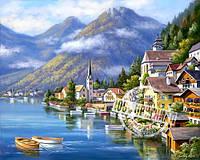 Картина раскраска по номерам Альпийская деревня 40х50см от бренда Идейка