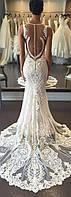 Свадебное платье рыбка или русалочка индивидуальный пошив (наши невесты) Днепр , кружево,свадьба, открытая спи