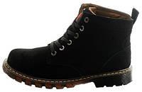 Мужские зимние ботинки Adidas Originals Boot Black (Адидас) с мехом черные