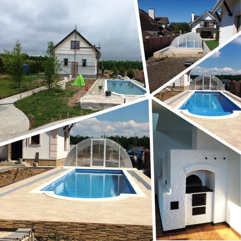Загородный домик и бассейн Иванковичи