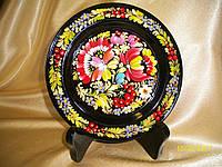 Тарелка сувенирная Петриковка на подставке