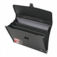 Портфель пластиковый Axent А4 3 отделения цвет черный Арт.1601-01 02498