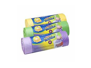 Пакеты для мусора Фрекен Бок с затяжкой 35 литров 51х53 см /упак. 15 шт/