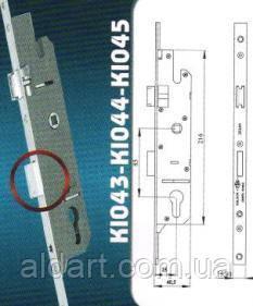 Замок-рейка Aklock 1800 мм., 25/85 с ригелем, фото 2