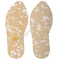 """Резиновая подошва для обуви """"далматинец"""" BISSELL, art.116, цв.бежевый с белым"""