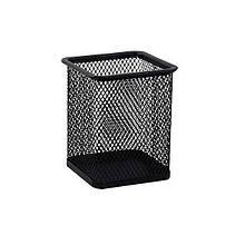 Стакан для ручек BuroMax квадратный металл. сетка черный Арт. ВМ.6201-01