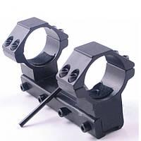 Кріплення для оптики 25,4 мм на ластівчин хвіст, моноблок для прицілу, кільця дюймові, фото 1