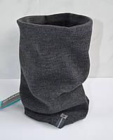 Баф серый, шарф на флисе shado