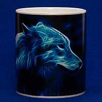 Чашка хамелеон Лунная волчица