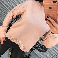 Красивый свитер декорирован бусинками в расцветках арт-239  B-002.10.162