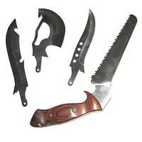 Туристический нож с 4 лезвиями, набор туристический 4 в 1, фото 1