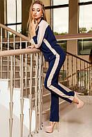 Стильный брючный костюм с модными лампасами (5 расцветок)