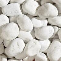 Мраморная галька белая Каррара (Италия)