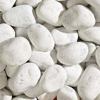 Мраморная галька белая Карара Bianco Carrara (Италия) 25кг