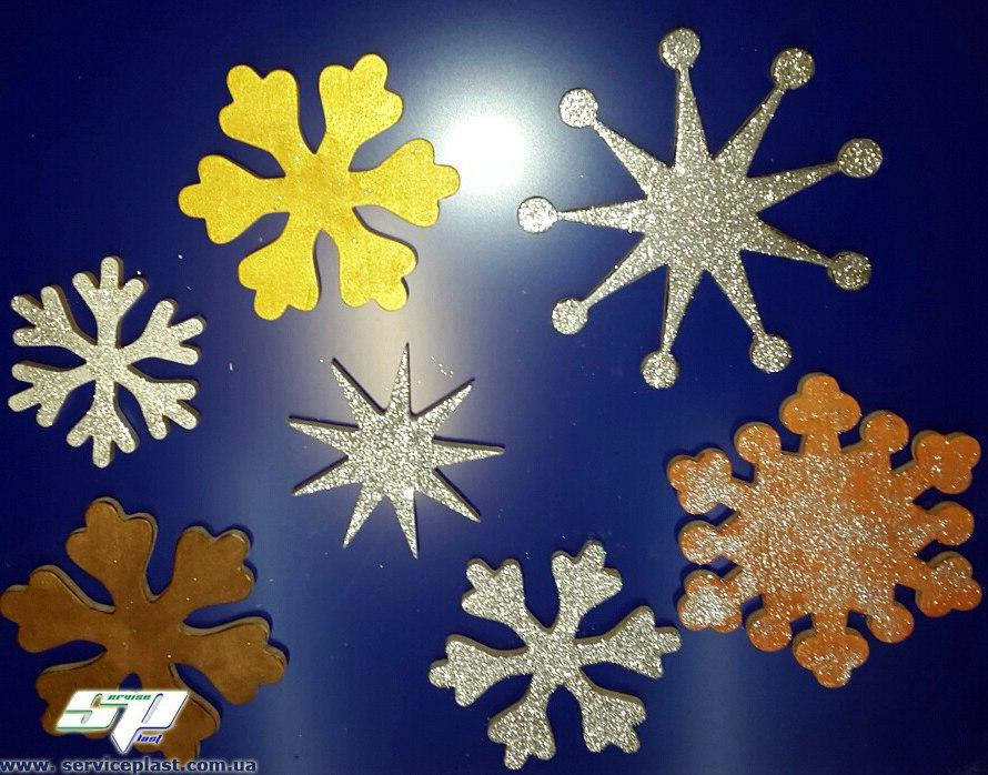Снежинки из пенопласта, фанеры, дерева. Оформление торговых центров, магазинов, офисов, кафе, ресторанов