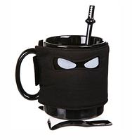 Чашка Ниндзя черная ( оригинальные подарки )