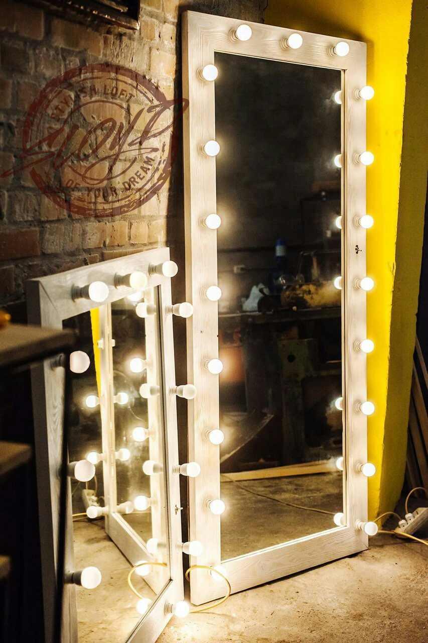 Гримерное (визажное) зеркало с лампами LED для дома, салонов красоты, фотостудий, кафе, торговых помещений