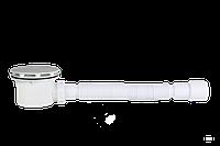 Сифон душевого поддона  Ø90 мм с гидрозатвором, белый + гибкая труба,,очищаемый