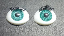 Глазки с  ресничками TС-12B