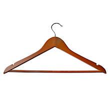Вешалка плечики для одежды ТМ МД деревянная с перекладиной Арт. RE05163