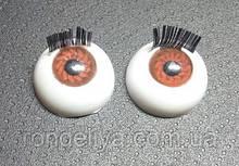 Глазки с  ресничками TR-16B