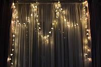 """Новогодняя светодиодная гирлянда от сети """"Теплые орхидеи"""", фото 1"""