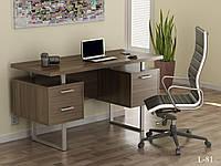 Стол письменный в стиле лофт  L-81 Loft Design Орех Модена
