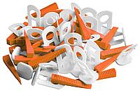 Кліпси та клинці для вирівнювання плитки MINI, 1,3 мм, 30 компл. Favorit 11-025 | клипсы клинья выравнивание
