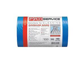 Пакеты для мусора PROservise 35 литров 55х50 см голубые /упак. 100 шт/