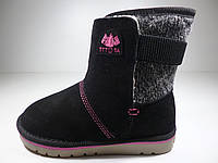 Угги для девочек TTTOTA кожаный носок Размер: 32,33,34,35,36,37