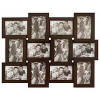Фоторамка на 12 фото Runoko 10х15 см из дерева Венге Арт. В-12