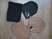 Детская шапка для девочки с хомутом